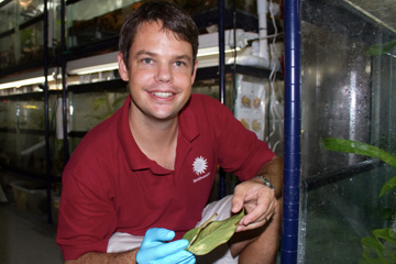 Brian Gratwicke at Summit Municipal Park, in the Panama Amphibian Rescue And Conservation Project's Amphibian Rescue Pod