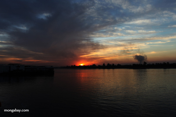 Nile Sunset. Photo by: Rhett A. Butler.