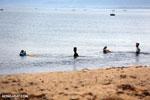 Villagers fishing on a beach in Maroantsetra [madagascar_maroantsetra_0273]