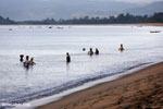 Villagers fishing on a beach in Maroantsetra [madagascar_maroantsetra_0280]