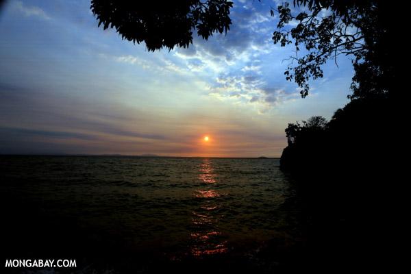 Sunset off Nosy Komba