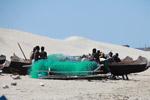 Vezo fishermen preparing their nets
