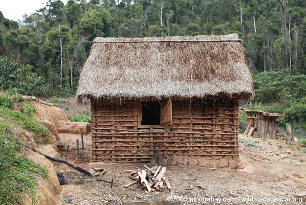Mud hut near Mantandia
