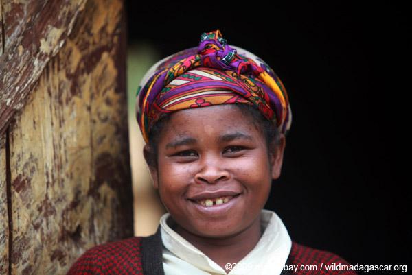 Woman in village near Mantadia