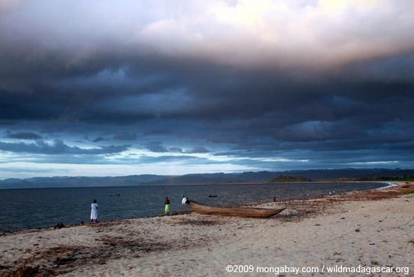 Bay on Antongil at dawn