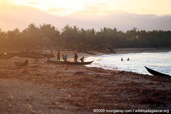 Beach activities near Maroantsetra