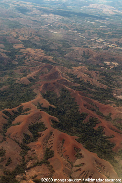 Deforestation and soil erosion in Northern Madagascar