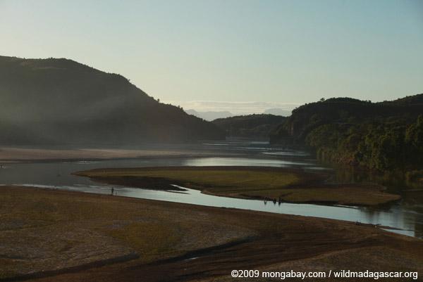 River in northwestern Madagascar between Ambilobe and Ambanja