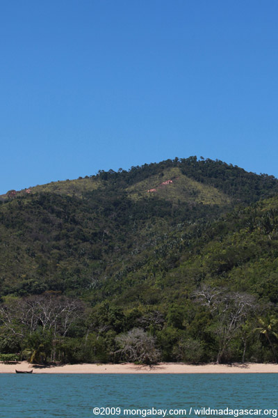 Deforestation near Lokobe Reserve