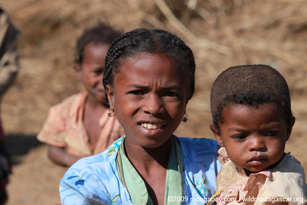 Girl in a village in Madagascar. Nearly half the population is under 14. Photo by: Rhett A. Butler.
