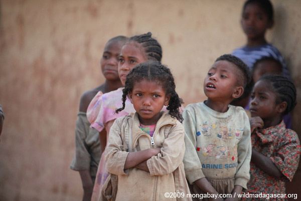 Children in Madagascar. Although Madagascar suffers high poverty and malnutrition rates, controversial foreign land deals have occurred here in recent years. Photo by: Rhett A. Butler.