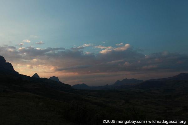 Antanifotsy Valley at sunset