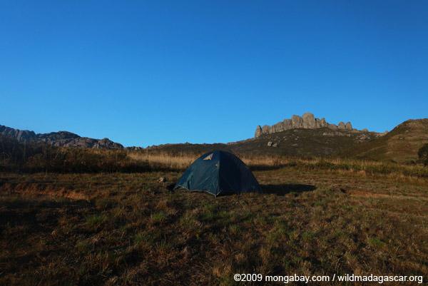 Tent in the Antanifotsy Valley
