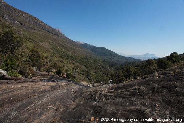 Looking downstram from Riambavy waterfall of Andringitra