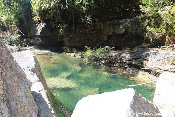 King's pool in Canyon des Makis