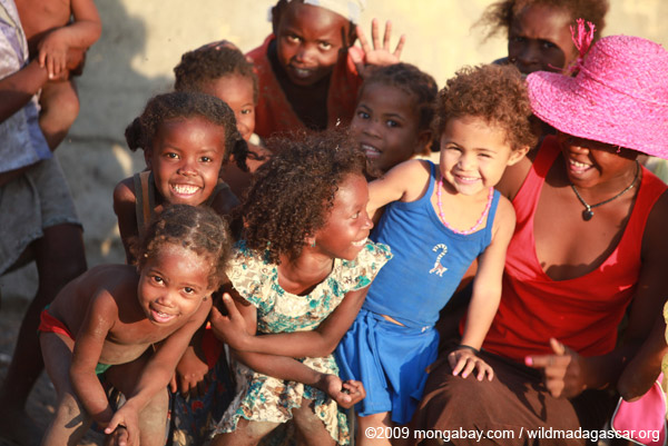 Children in Madagascar, among the world's poorest countries and suffering from vast environmental degradation. Photo by: Rhett A. Butler.