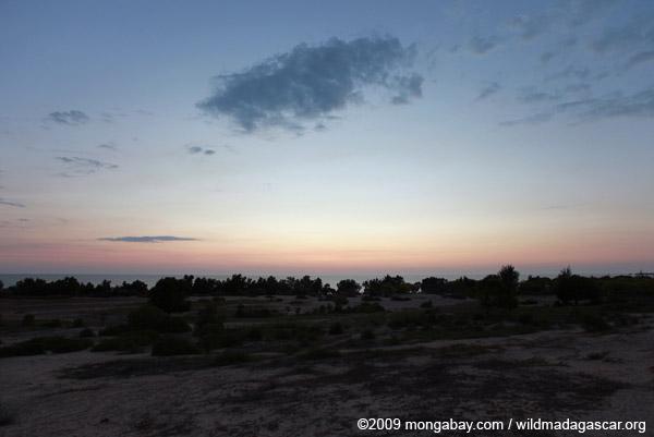 Sunset on a beach south of Tulear