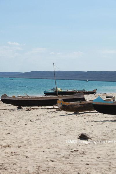 Vezo fishing canoes