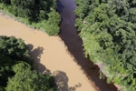 River muddied by upstream deforestation