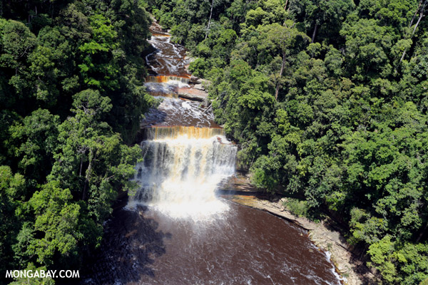 Maliau Falls in Borneo. The global economy depends on natural capital such as freshwater. Photo by: Rhett A. Butler.