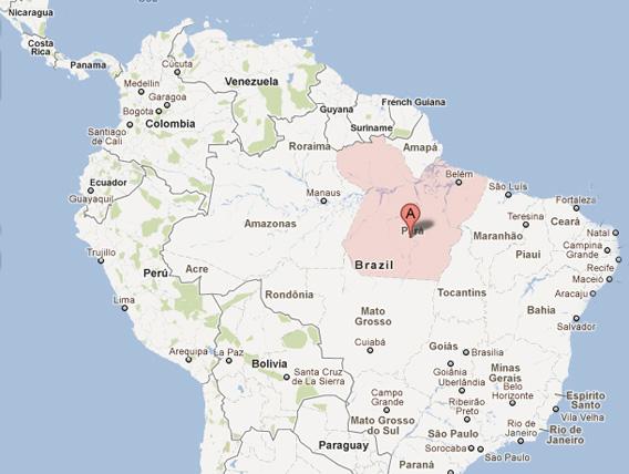 Map of Para.