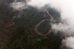 Aerial view of a rainforest river in Colombia's Choco [colombia_3960]