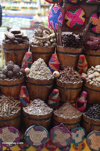 Spices at a market in Aswan