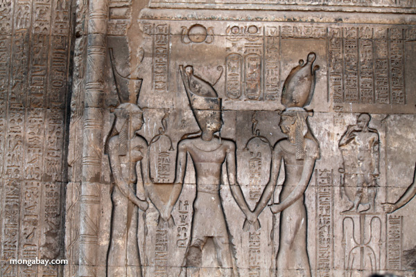Wall relief at Khnum