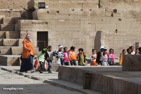 School children touring the Temple of Kom Ombo [egypt_0524]