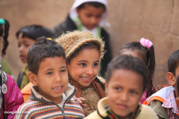 School children touring the Temple of Kom Ombo [egypt_0541]