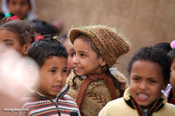 School children touring the Temple of Kom Ombo [egypt_0542]