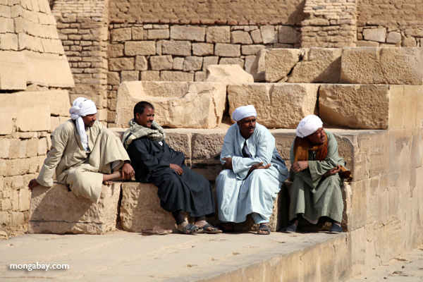 Men at the Temple of Kom Ombo [egypt_0552]