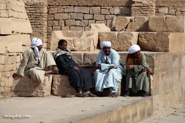 Men at the Temple of Kom Ombo [egypt_0556]