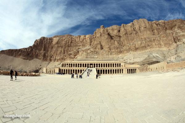 Mortuary Temple of Queen Hatshepsut with Deir el Bahari behind