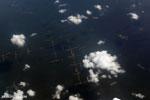 Aerial view of Sumatran countryside