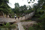 Collapsed bridge in Aceh
