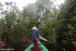 Franky, an illegal logger turned local boatman