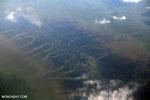 Overhead view of peatlands in Borneo