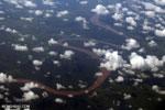 Aerial view of peatlands in Central Kalimantan