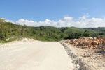 A road in the mountains near the village of Mencia,Dominican Republic.