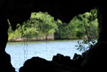 A view from inside the sacred Taino caves in Los Haitises National Park in the Dominican Republic.