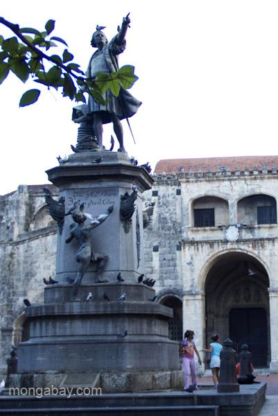 A statue of Christopher Columbus in Santo Domingo, Dominican Republic.