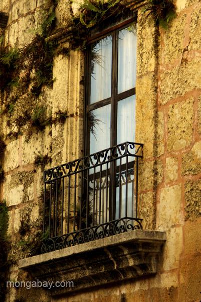 Unique architecture in the Colonial Zone of Santo Domingo, Dominican Republic.
