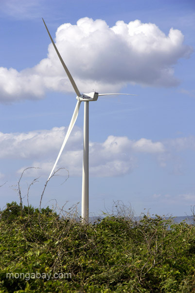 Wind turbine in the Dominican Republic. Photo by: Tiffany Roufs.