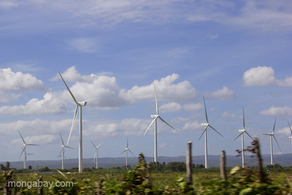 Windfarm in the Pedernales Peninsula, Dominican Republic.