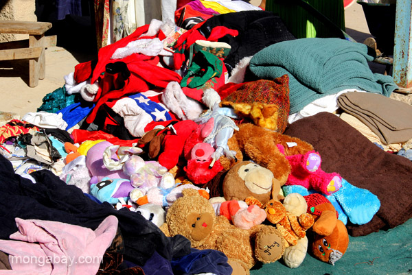Used goods (donated to Haiti Relief efforts) for sale at the bi-weekly Haitian market in Pedernales, Dominican Republic.