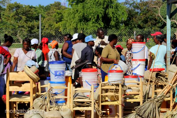 The bi-weekly Haitian market in Pedernales, Dominican Republic.