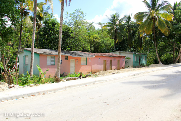 The village of Mencia in the Pedernales Province of the Dominican Republic.