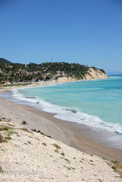 Costal views on the Pedernales Peninsula, Dominican Republic.