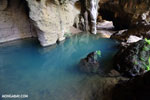 Blue pool in a cave in Ankarana